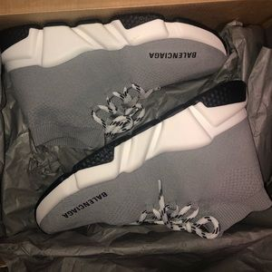 Brand new authentic grey balenciaga speed trainers